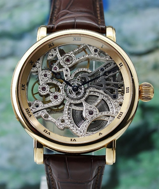 UNWORN ULYSSE NARDIN 18K ROSE GOLD MAXI SKELETON DIAL LIMITED EDITION 38 PIECES / 306-33